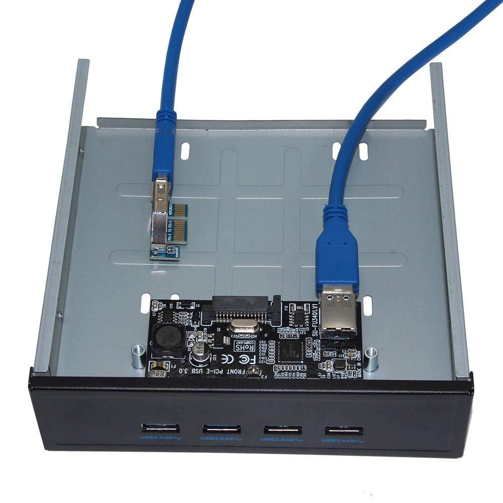 Everpert Tarjeta de Expansión USB 3.0 PCI-E a 4 Puertos PCI ...