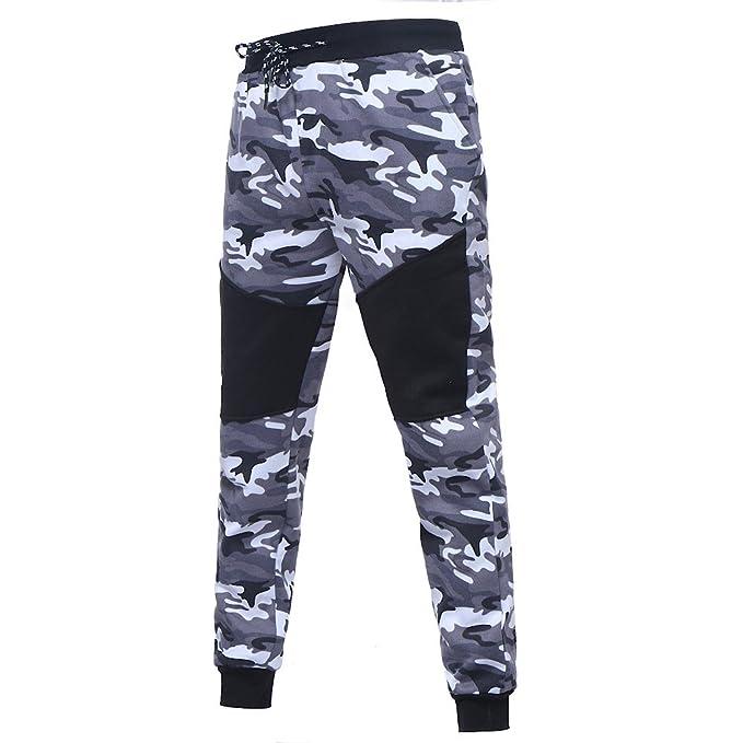 a8a43f8cb7 Auwer 2019 Mens Autumn Winter Camouflage Sweatshirt Top Pants Sets ...