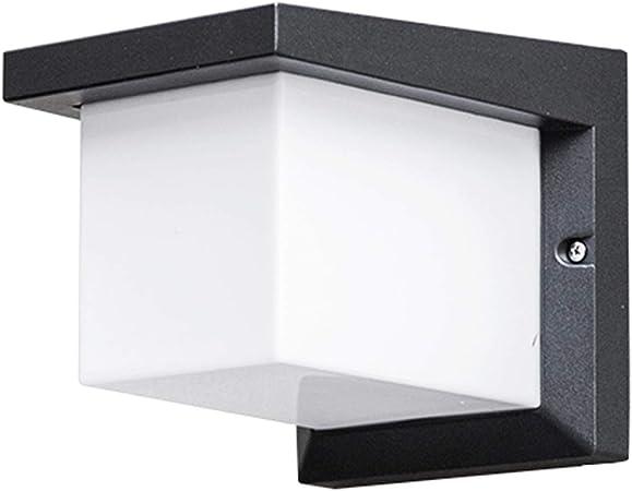 Lámpara de pared luz led Aplique Aplique de exterior Apliques de pared impermeables, moderno minimalista LED Aplique Villa Jardín Patio Pasillo Balcón Accesorio Balcón decorativo . (Design : D) : Amazon.es: Hogar