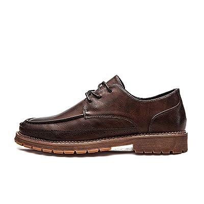 6db0e002632b 2018 Chaussures habillées pour Hommes, Affaires en Microfibre Casual  Richelieus Homme (Color : Marron