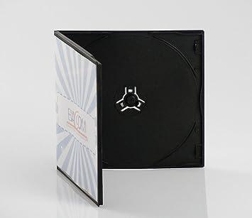 100 Cajas para 1 CD Slim, PP Negro, Qtecx: Amazon.es ...