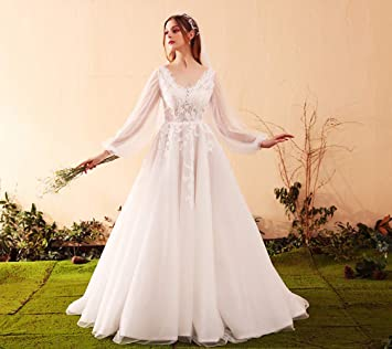 WFL La Falda del Vestido De Novia De La Luz De La Boda De La Novia