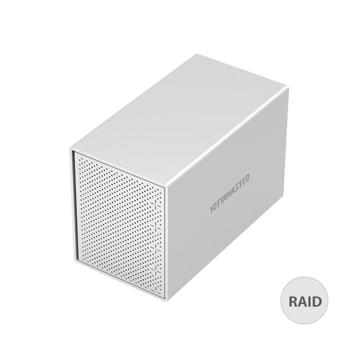 Yottamaster Aluminum Alloy 5 Bay 3.5 Inch USB3.1 Gen1 Type-C RAID External HDD Enclosure SATA3.0 Support 5x10TB & UASP -Silver by Yottamaster (Image #1)