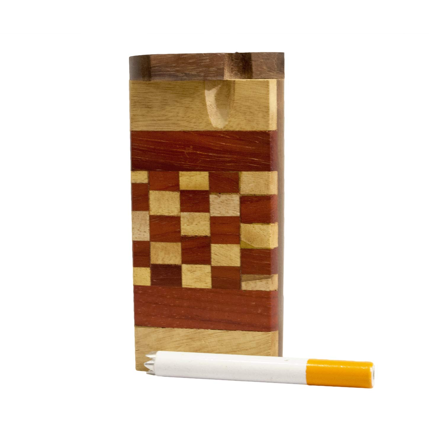 Handcrafted Wooden Cigarette Holder | Unique Woodgrain Pattern |''Bobby Fischer'' Design