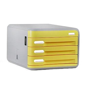 cajonera de oficina, archivador con cajones de ABS cajones de almacenamiento de plástico para oficina, sala, escuela: Amazon.es: Hogar