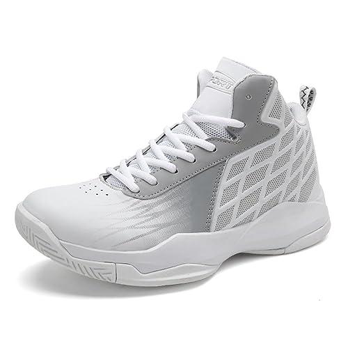 4616912ba95 GOMNEAR Zapatos de Baloncesto de los Hombres Zapatillas de Deporte de  Tobillo Respirables al Aire Libre Ligeras Que corren la Zapatilla Deportiva  de los ...