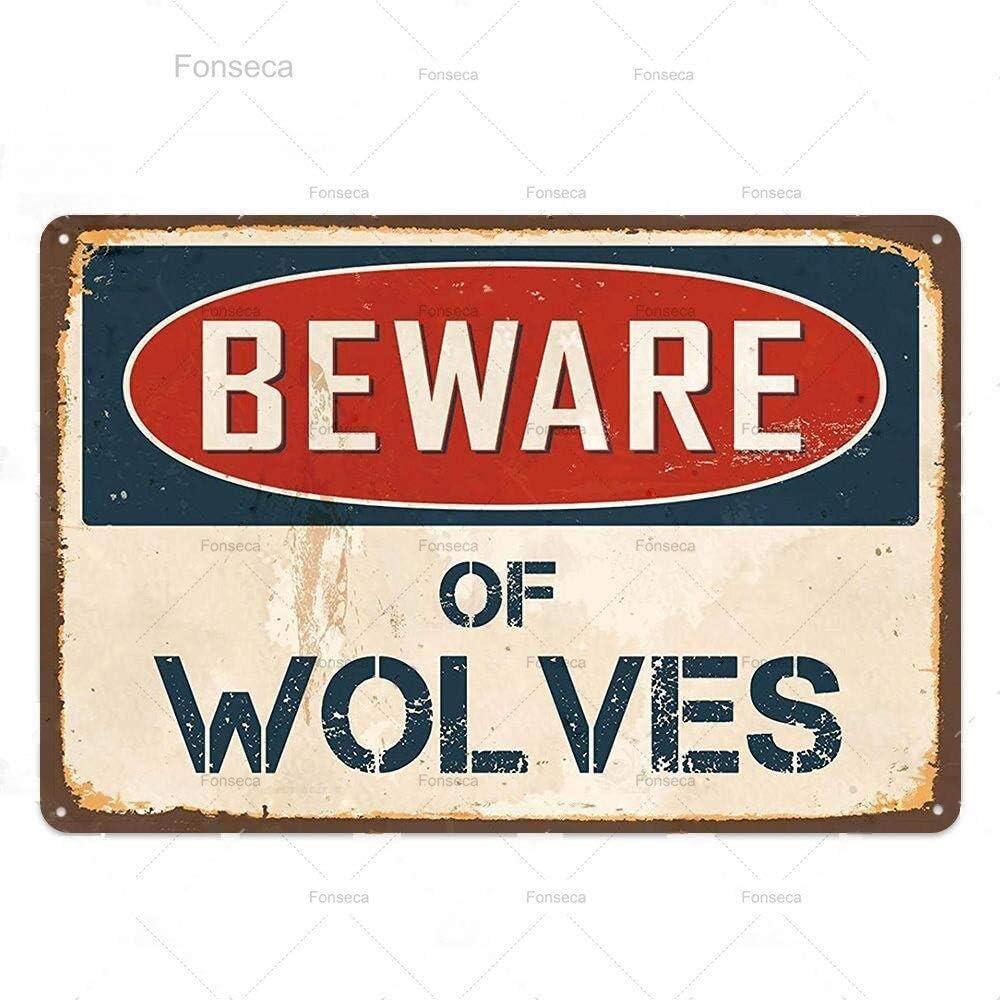 Ami0707 Cuidado con la señal de Advertencia Divertida Peligro Metal Cartel de Chapa Placa de Pared Cartel Pintura Cartel de Pared 7.8x11.8 Pulgadas WLY711