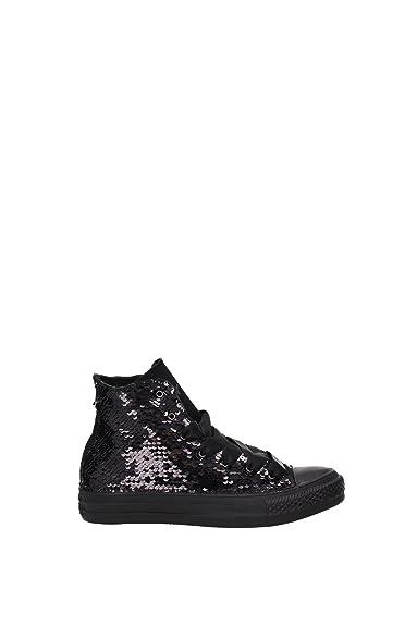 Damen Pailletten Grau Und 1c16fa18 Sneakers Schwarz Weiß Converse TlFcK1J