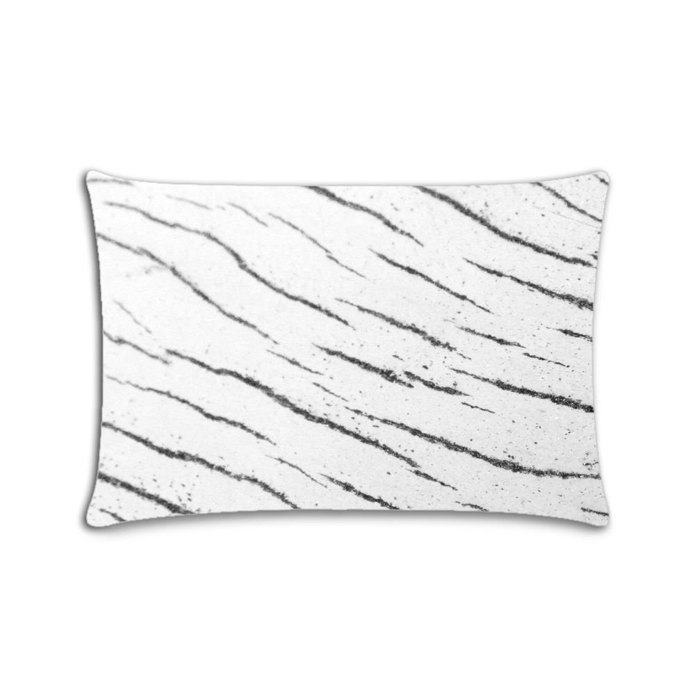 Custom Stockvault Wood Cotton Polyester Pillowcase Pillow Cover With Zipper Queen Size 20x30 (Twin Sides)