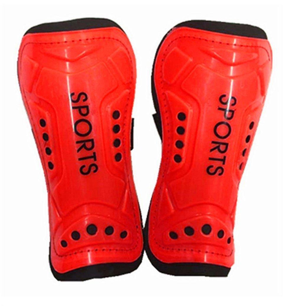Qingsunサッカーすね当てレガース軽量サッカーFootball Shield Leg Protectors ( ) B01LZ8D2YP レッド レッド