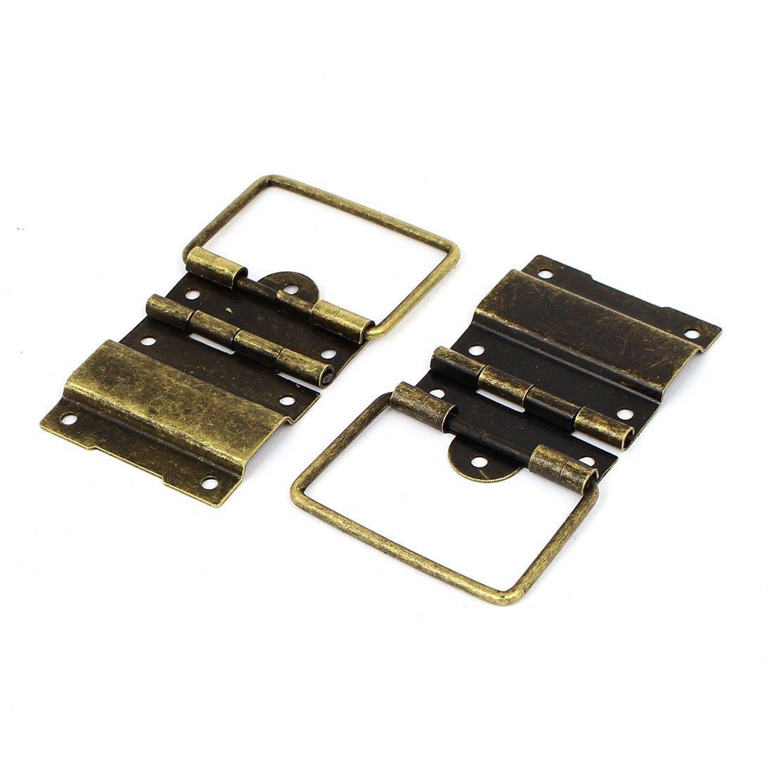 eDealMax Box Case 57mmx41mm Style rétro positionnement Soutien Hinges Bronze 30pcs Tone by eDealMax