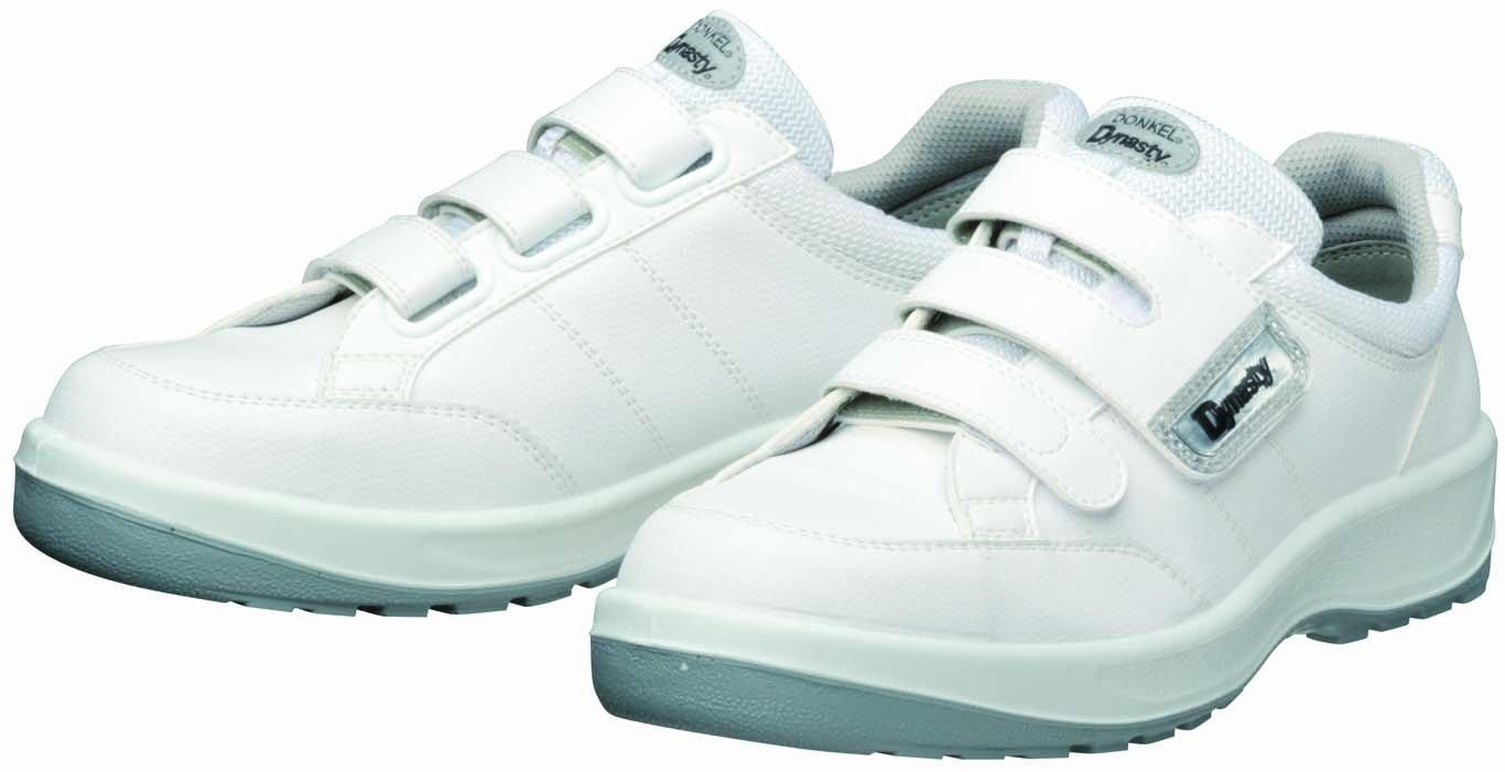 [ドンケル] Dynasty 安全靴 スニーカー PU二層底 帯電防止 耐滑 耐踏み抜き JSAA A種 D-1003静電  D-1003S B00CW7CASY 25.5 cm|ホワイト