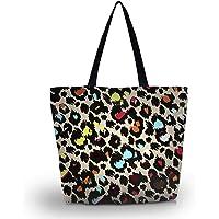 Kids Zippered Pattern Prints Soft Handbag Tote Shoulder Bag Shopping Beach Lady Purse Bags (SB-1280)