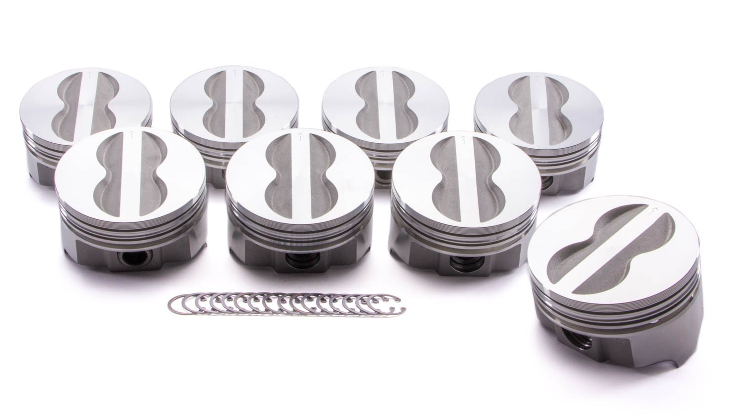 Icon IC9913.030 Flat Top Forged Piston Set for Small Block Chevy