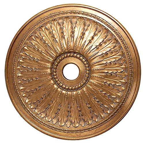 Ceiling Medallion Classic Petite Gold Gilt Round Shape 29 Inch Diameter Chandelier Light Art Decor