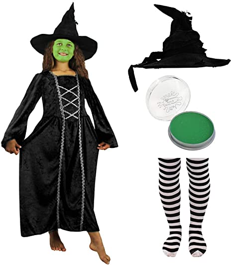 Cappello Bambino Ragazze Strega Cattiva Magico Nero Oz Halloween Costume