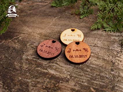 94c662799df8 Amazon.com: DalaB Wooden Tags for Handmade Products or Clothing ...