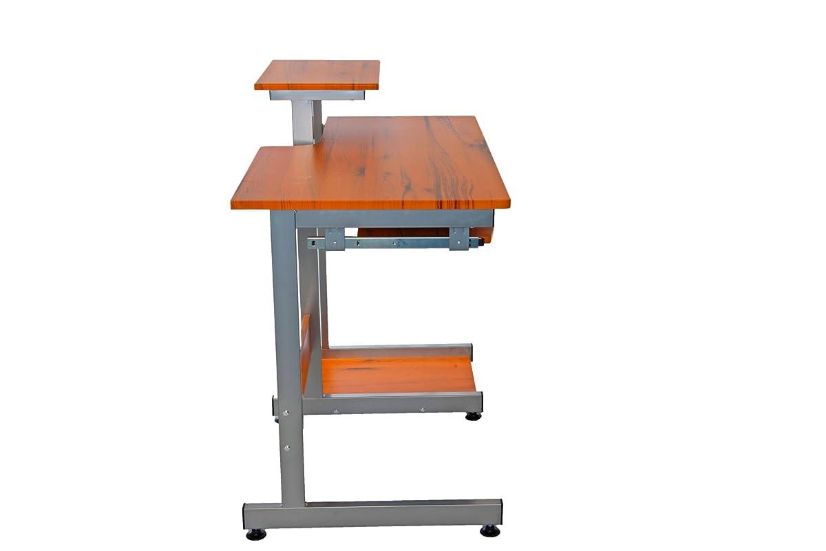 Complete Computer Workstation Desk. Color: Woodgrain