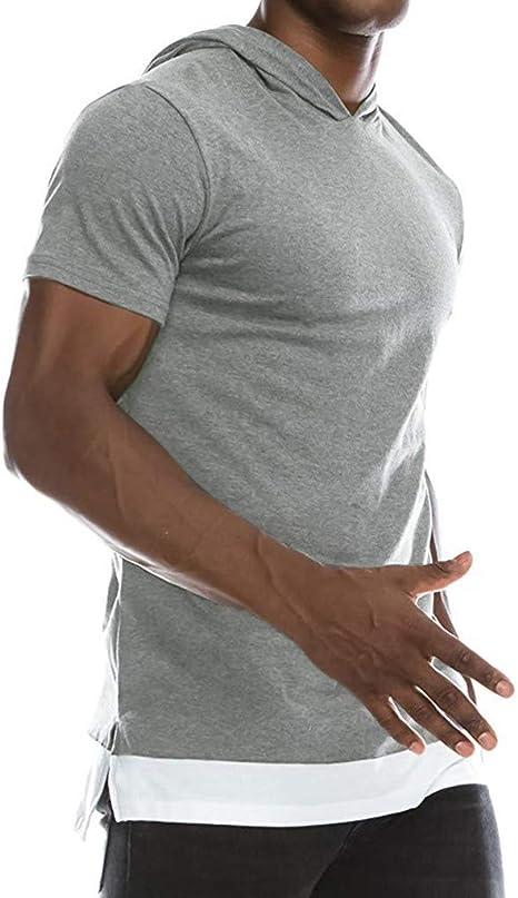 Casual Polos Manga Corta para Hombre Costura en Contraste Escote ...