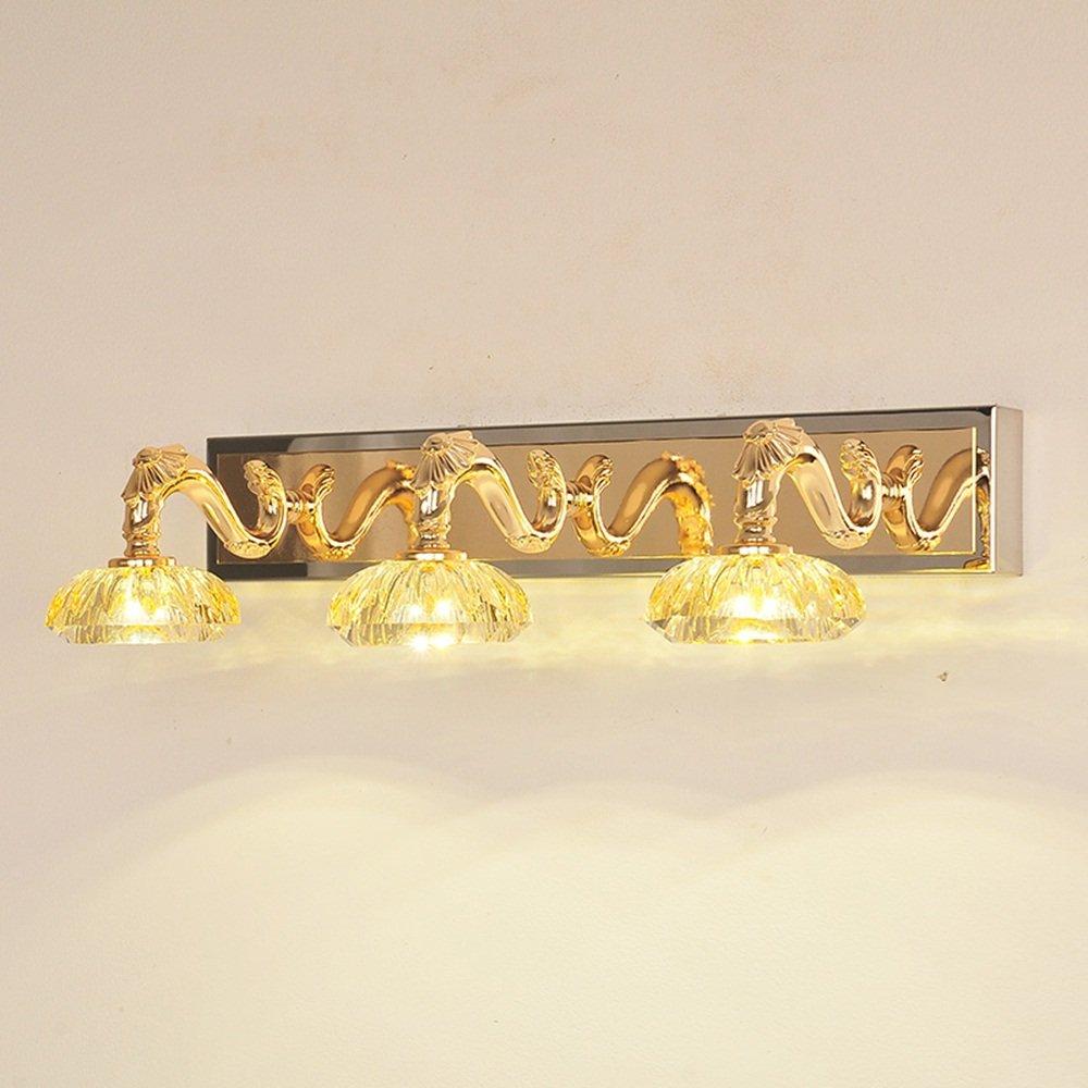 Flashing- Iluminación Iluminación Iluminación europea de la simplicidad del estilo LED de la lámpara de la lámpara y de la luz delantera del espejo del acero inoxidable, espejo del cuarto de baño del tocador luces del gabinete la iluminación cr 53fd13
