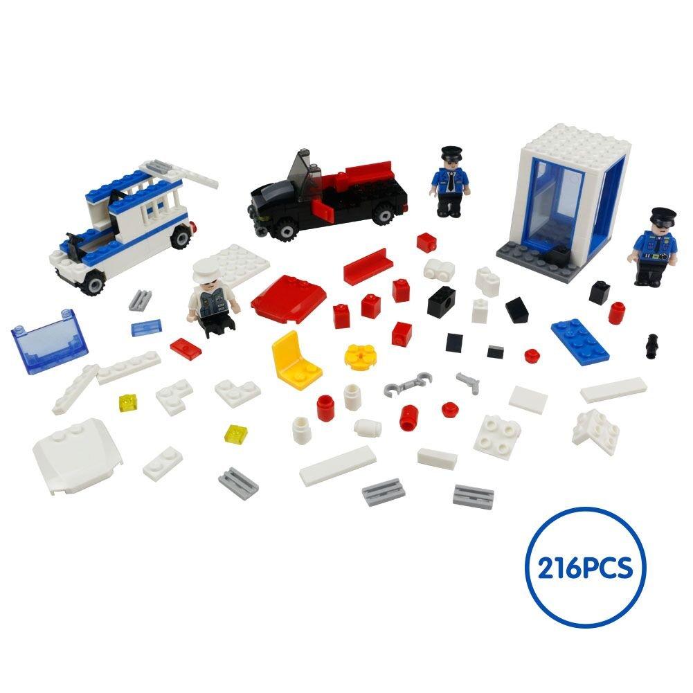 Blocks Building Toys Konstruktion Montage Police Station Set für Kinder Kinder