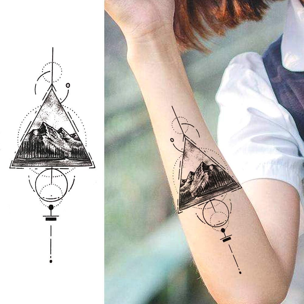LAROI 10 Hojas Tatuajes Temporales De Montaña Grande Mujer Niños ...