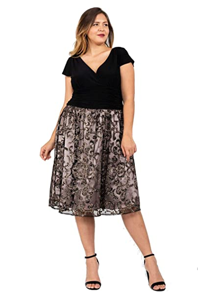 SL Fashions Mother of The Bride Short Plus Size Dress