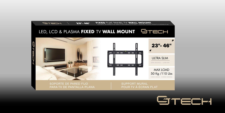 Amazon Com Cj Tech Fixed Television Tv Wall Mount For Flat Panel  # Designe De Support De Television