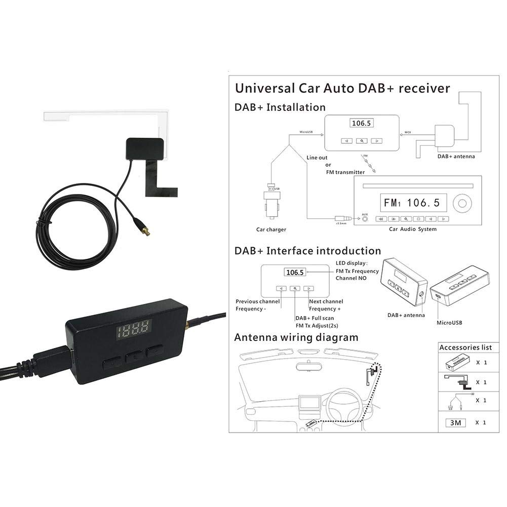 Irahdbowen Receiver Dc5v Home Car Universal 35 Aux In No Usb Charger Wiring Diagram Installation Required Dab Dtr168 Motorbike