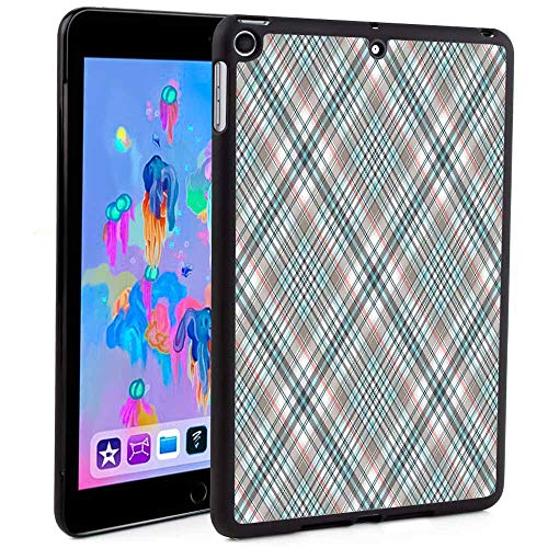 iPad Mini 5 Case, Shop Premium TPU&PC Leather Wallet Case,Traditional Pattern with Crosswise Dense Lines Plaid Inspired Print Mandala Floral Print for iPad 9.7 2018/2017(Custom Pattern iPad case)