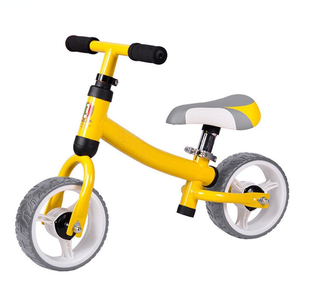 Lvbeis Balance Fahrrad Kinder Justierbares Sitz Kein Pedal Bike FÜR 2-5 Jahre Alt Gelb