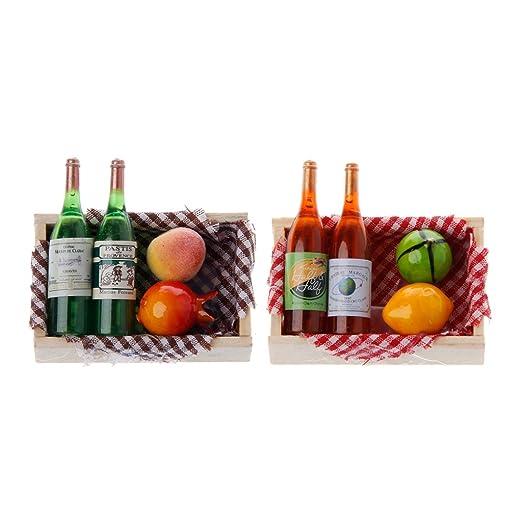 Zohong Creative Estilo francés Botella de Vino de Madera Nevera ...