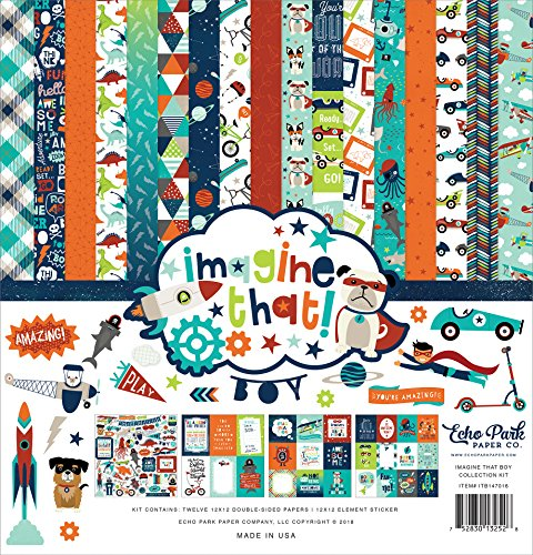 Echo Park Paper Company Imagine That Boy Collection Kit, None by Echo Park Paper Company