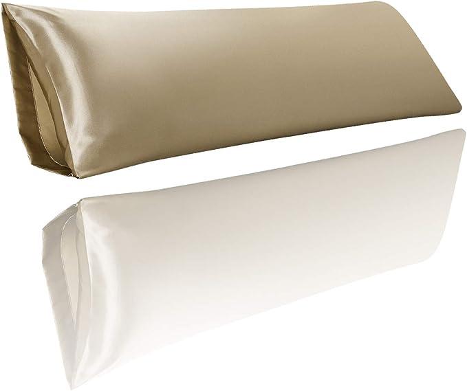 Yeboup Body Pillow Cover, Silky Satin