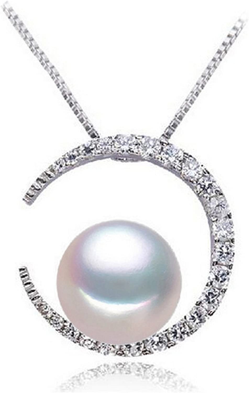 MMC White Pearl Silver Pendants Necklaces