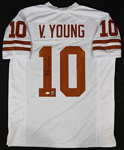 sale retailer 54530 e348a Vince Young White Longhorns Jersey - Hand Signed By Vince ...
