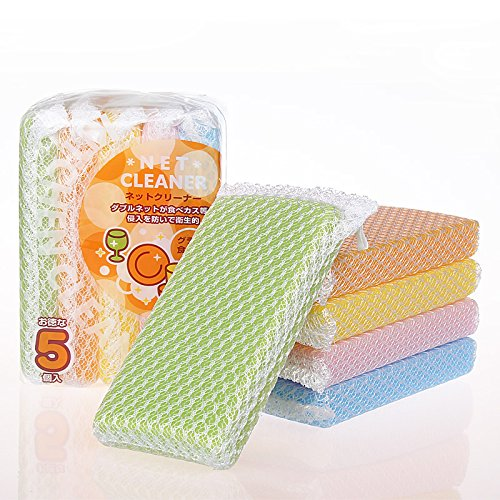 All-Purpose Nylon Net Scouring Sponge Cleaning Pads - Assorted Color (Scrub Net)