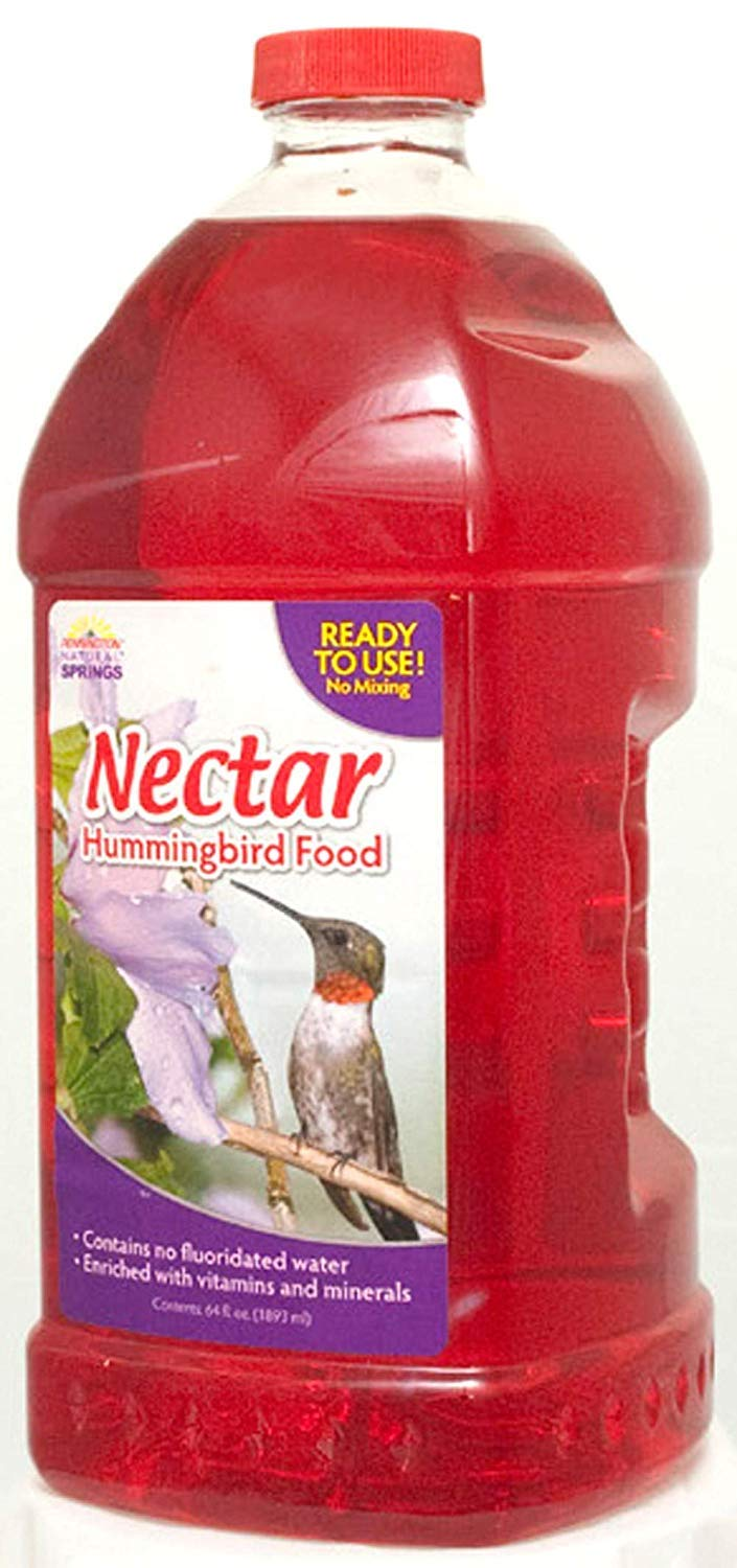Natural Springs Hummingbird Nectar Ready to Use Food, 64 oz - Pack of 4 by Natural Springs