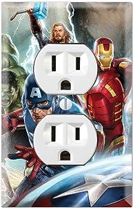 Duplex Wall Outlet Plate Decor Wallplate - Avengers