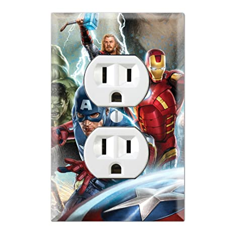 Avengers Decorative Duplex Outlet Wall Plate Cover - - Amazon.com