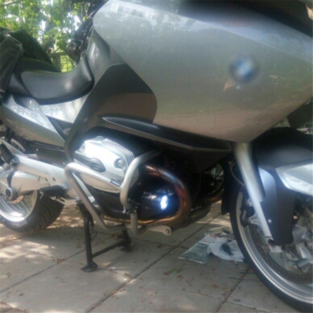 120W GZLMMY 1 Paar Motorrad LED Scheinwerfer 12V 120W 10000LM U2 LED Motorrad Beam Frontscheinwerfer Moto Spot Head Light AUX Lampe DRL