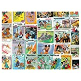Walt Disney Pluto & Goofy : 25 Different Stamps Collection Mixture Packet Stamps for Collectors