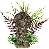 Blue Ribbon Exotic Environments Buddha Warrior With Plants Small
