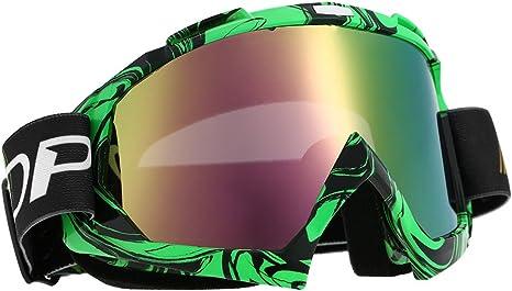 gafas de Match fuera ruta en vasos colores transparentes para protecci/ón de los ojos verde KKmoon gafas de moto fuera ruta
