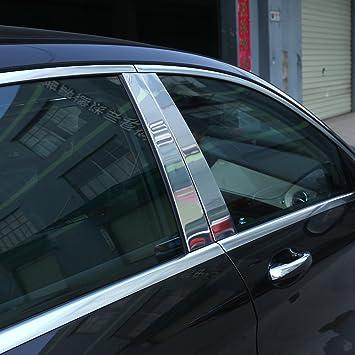4pcs aluminio pulido B C ventana Pilar Post Trim Kit de coche coche accesorios