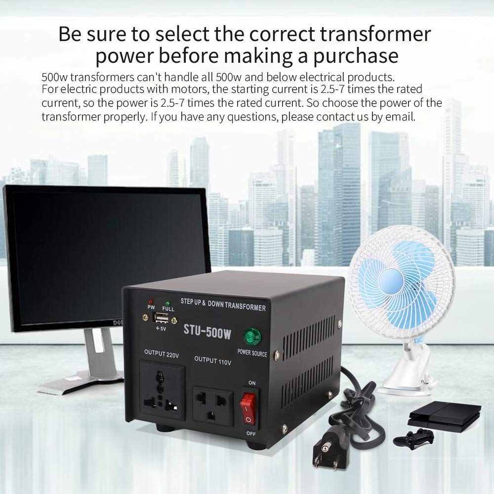 3000W Auto Step Up Down Voltage Transformer Converter 110-120 to 220-240 Volts with LCD Digital Display LED Indicator 200 220 230 to 100v 110v 120v AC