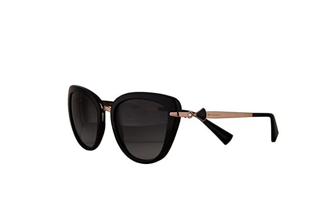 38dab0ab03f282 Image Unavailable. Image not available for. Color  Bvlgari BV8193B Sunglasses  Black w Grey Gradient ...