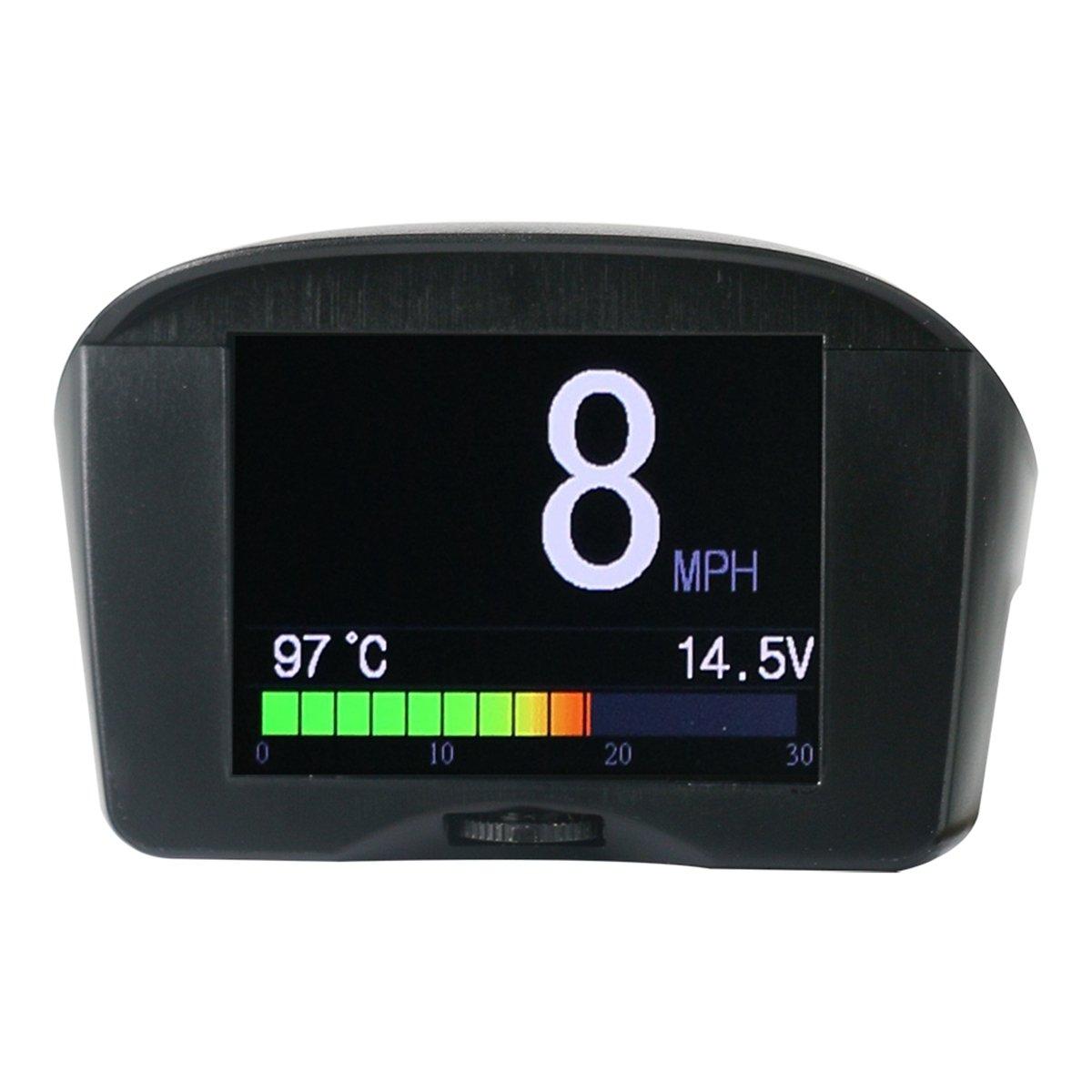 Auto temperatura dell' acqua Autool X50Plus OBDII digitale kmh/MPH tachimetro e velocità eccessiva allarme auto comune Fault code scanner con display LCD per 12V most benzina e diesel