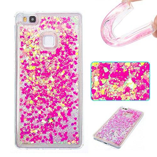 Huawei P9 Lite Case, Ranyi [Glitter Liquid Case] [Glitter&Liquid Move...