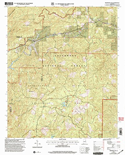 YellowMaps Piedmont SE AL topo map, 1:24000 Scale, 7.5 X 7.5 Minute, Historical, 2001, Updated 2004, 26.9 x 21.6 in - Paper ()